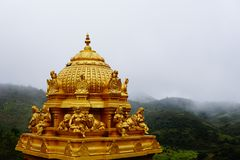Temple en-route Avalanche Lake, Ooty stock photography