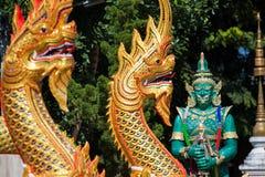 Temple en Thaïlande, temple dans la province de chiangmai Photos libres de droits