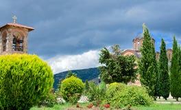 Temple en ville Trebinje, Bosnie-Herzégovine (Respublica Serpska) Images libres de droits