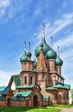 Temple ensemble in Korovniki, Yaroslavl Stock Photos