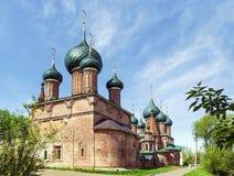 Temple ensemble in Korovniki, Yaroslavl Stock Photo