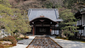 Temple entrance. A characteristic entrance into a Japanese temple Royalty Free Stock Photography