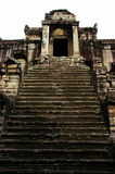 Temple entrance Angkor Wat. A steep stepped entrance to a temple within the Angkor Wat complex at Siem Reap, Cambodia stock photos