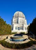 Temple Entrance. This is a picture of the main entrance of the Baha i House of Worship in Wilmette, Illinois.  This is the oldest surviving Baha i Temple in the Stock Photography