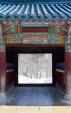 Temple entrance Royalty Free Stock Images