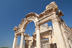 Temple of Ephesus. This was a temple in Ephesus for giving people to their business (for example: selling fruit or tools Royalty Free Stock Photography