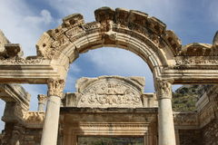 Temple Ephesus de Hadrianus Photos stock