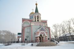Temple of Equal-to-the-Apostles Constantine and Helena. Abakan. Russia stock photo