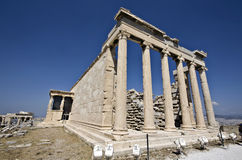 Temple of Erechteion at Athens, Greece Royalty Free Stock Photo