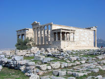 Temple of Erechtheum Royalty Free Stock Photo