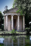 Temple of Esculapio in Villa Borghese Garden.Rome, Italy. Royalty Free Stock Photography