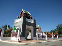 Temple et bel endroit en Thaïlande encens, encensoir, bâton d'encens Photo stock