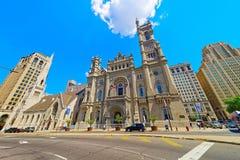 Temple et gratte-ciel maçonniques dans la vieille ville à Philadelphie Image libre de droits