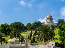 Temple et jardins de Bahai à Haïfa Israël Photo stock