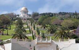 Temple et jardins de Bahai à Haïfa Israël Images libres de droits