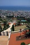 Temple et jardins de Bahai Image libre de droits