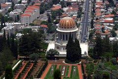 Temple et jardins de Bahai Photographie stock libre de droits