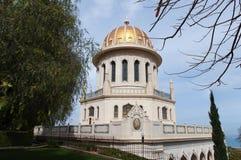 Temple et jardins de Bahai Photos stock