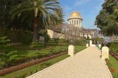 Temple et jardins de Bahai Image stock