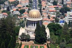 Temple et jardins de Bahai Photo libre de droits