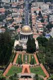 Temple et jardins de Bahai Photo stock