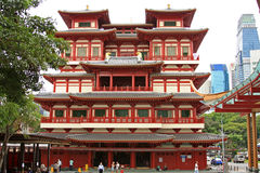 Temple et musée Singapour 01 de relique de dent de Bouddha Photos libres de droits