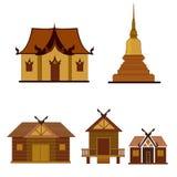 Temple et pagoda illustration de vecteur