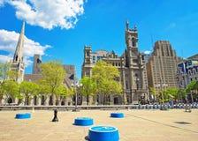 Temple et place maçonniques dans la vieille ville à Philadelphie Images libres de droits