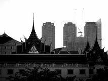 Temple et skyscaper Image libre de droits