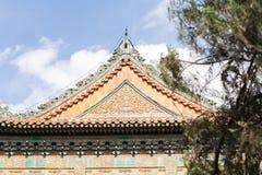 Temple et vue de chinois traditionnel Images libres de droits