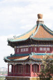 Temple et vue de chinois traditionnel Photos libres de droits