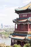 Temple et vue de chinois traditionnel Image libre de droits