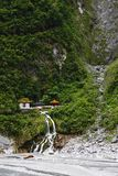 The Temple of Eternal Spring. Stood on the Taroko National Park in the northeast of Taiwan. It was built in memory of those who died building the Central Cross royalty free stock image