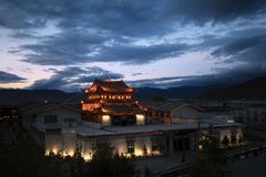 Temple  in the evening Stock Image