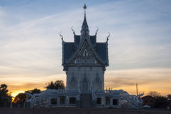 Temple. In the evening at northeast in Thailand Stock Photos