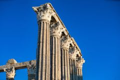 Temple of Evora is one of the historical sites of the citty of E Royalty Free Stock Image