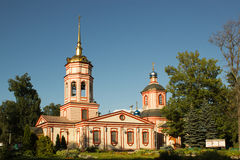 Temple of the Exaltation of the Holy Cross in Altufevo. Moscow, Stock Photos