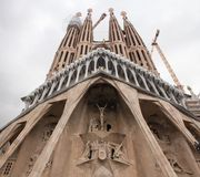 Temple Expiatori de la Sagrada Família. Secessionist church in Barcelona. stock images