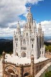 Temple Expiatori del Sagrat Cor Barcelona, Spanje stock foto's