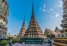 Temple extérieur Bangkok Thaïlande de Wat Pho de temple Image libre de droits