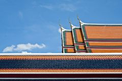 Temple exterior, Wat Pho is one of the oldest and Stock Image