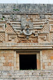 Temple Facade in Uxmal Yucatan Mexico Stock Photos