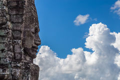 Temple face staring into the clouds Royalty Free Stock Images