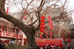 Visit the temple fair in Town God& x27;s Temple, Zhengzhou royalty free stock photography
