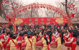 TEMPLE FAIRS in China royalty free stock photo