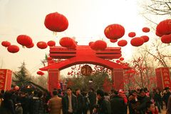 TEMPLE FAIRS in China stock images