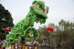The Temple Fair in chinese village Royalty Free Stock Image
