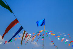 Temple fair colorful under sky Royalty Free Stock Images