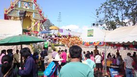 Temple fair of Suphanburi province, Thailand in 2015 stock footage