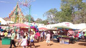 Temple fair of suphanburi province, Thailand in 2015 stock video footage